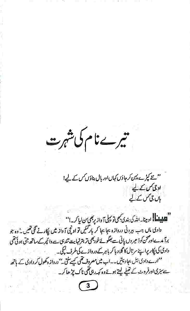 tere naam ki shuhrat - Tere Naam Ki Shohrat by Shazia Chaudhry