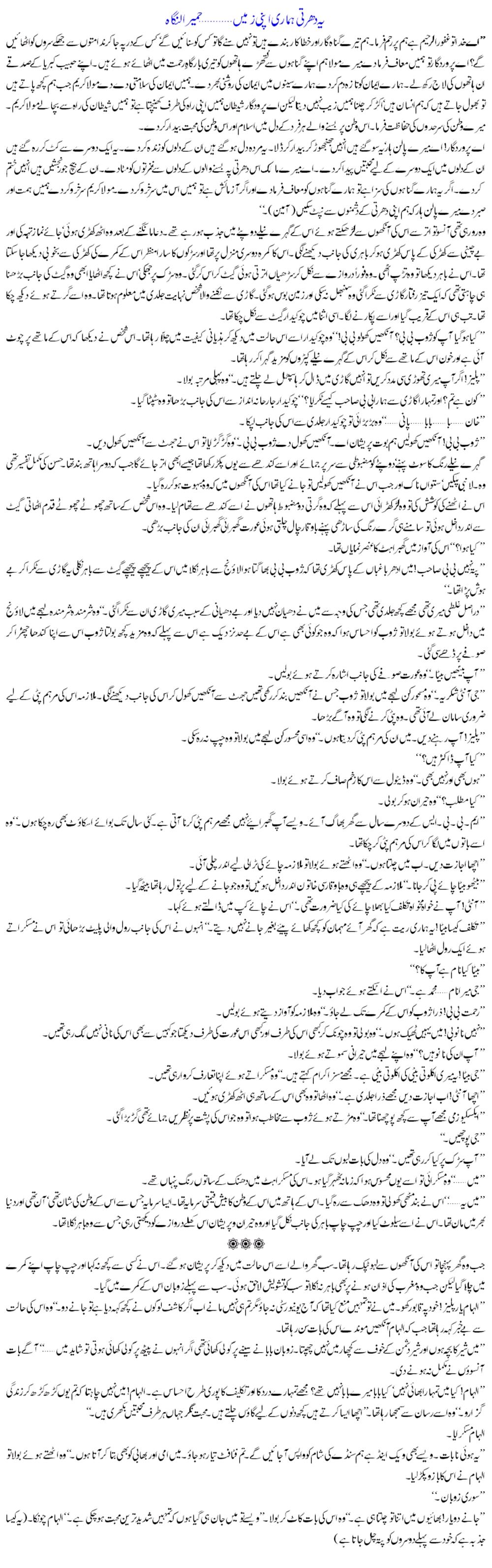 an accident essay in urdu